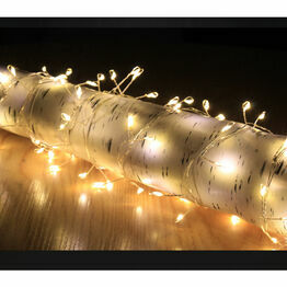 Snowtime Copper Wire Cluster 200 String Lights Warm White