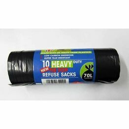 BPI Heavy Duty Refuse Sacks Tie Top (10) 70ltr