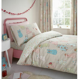 Bedlam Duvet Cover Set Cheeky Cats Single Bed