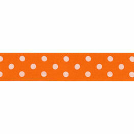 Ribbon Polka Dot Orange 25mm