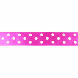 Ribbon Polka Dot Pink 25mm