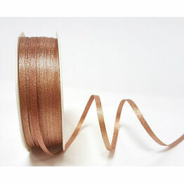 Ribbon Rose Gold Sparkle Satin 3mm