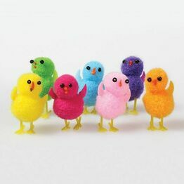 Small Easter Assorted Pompom Chicks - 32mm DP564