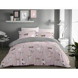 Fusion Cats Blush Duvet Cover Set