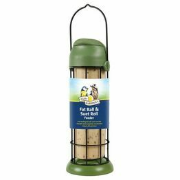 Walter Harrisons Flip Top Fat Ball & Suet Roll Feeder