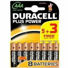 Duracell Plus AAA Cell Batteries-Multi-pack of 5+3