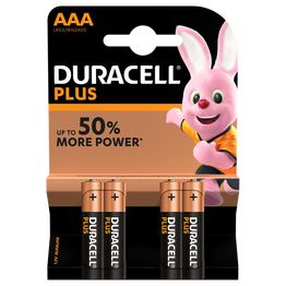 Duracell Plus Power AAA Battery Pack of 4