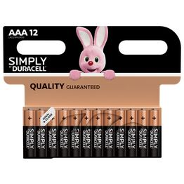 Duracell Simply AAA Battery Pack of 12