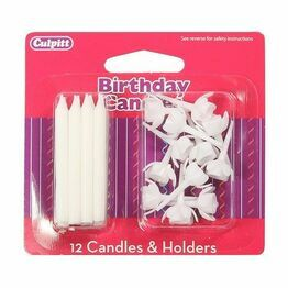 Culpitt Party Candles & Holders White DP649