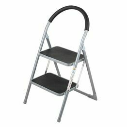 2 Wide Rubber Tread Steel Step Ladder