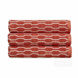 Christy Lumo Jacquard Towels Cayenne