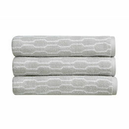 Christy Lumo Jacquard Towels Dove Grey