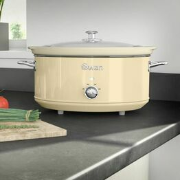 Swan Slow Cooker Retro Cream 6.5Ltr SF17031CN