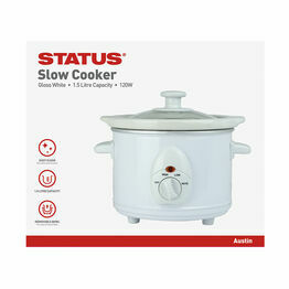 Status Round Slow Cooker White 1.5ltr