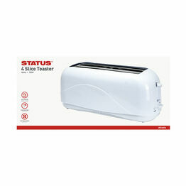 Status Atlanta 4 Slice White Toaster