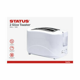 Status Seattle 2 Slice White Toaster