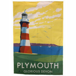Becky Bettesworth Design Plymouth Hoe Tea Towel