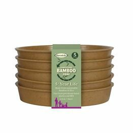 Haxnicks Bamboo Saucer Pack of 5 Terracotta