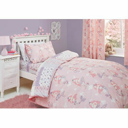 Bedlam Duvet Cover Set Mermaid Pink Single Bed