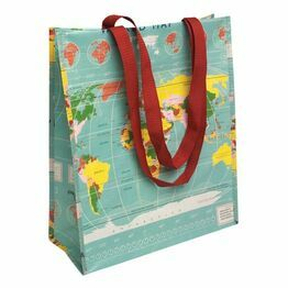 Recycled Shopping Bag World Map 25082