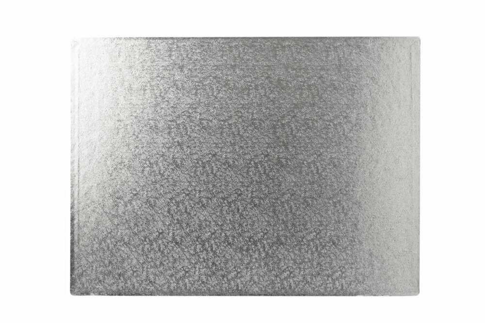 """12/"""" x 10/"""" Inch 3mm Thick Oblong Rectangular Cake Board"""