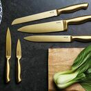 MasterClass 5-Piece Brass Coloured Stainless Steel Knife Set and Block additional 5