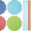 Home Made Pack of 8 Gingham Patterned Fabric Jam Cover Kits additional 2
