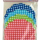 Home Made Pack of 8 Gingham Patterned Fabric Jam Cover Kits additional 1