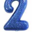 Numeral Moulded Pick Party Candles Blue additional 4
