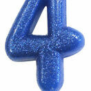 Numeral Moulded Pick Party Candles Blue additional 6