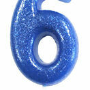 Numeral Moulded Pick Party Candles Blue additional 8