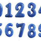 Numeral Moulded Pick Party Candles Blue additional 1