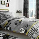 Bedlam Duvet Cover Set Football Grey Single Bed additional 2