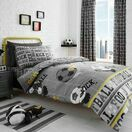 Bedlam Duvet Cover Set Football Grey Single Bed additional 1