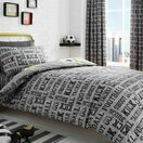 Bedlam Duvet Cover Set Football Grey Single Bed additional 4