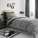 Bedlam Duvet Cover Set Football Grey Single Bed additional 3