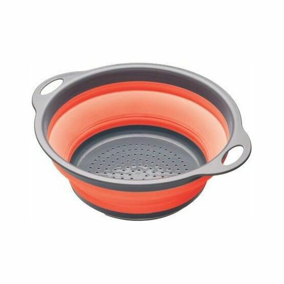 Collapsible Colander with Grey Handles - Red