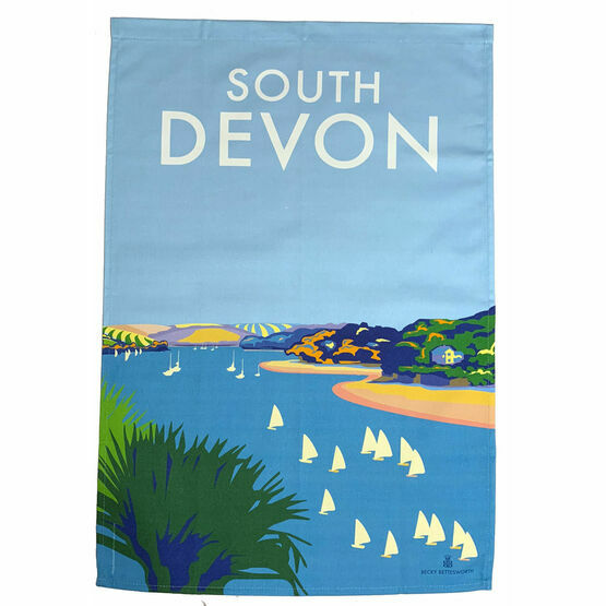 Glorious South Devon 100% Premium Cotton Tea Towel