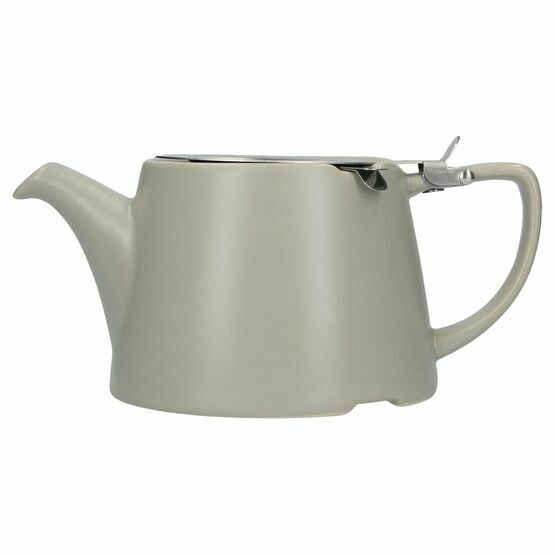 London Pottery Oval Filter Teapot 3cup Satin Grey