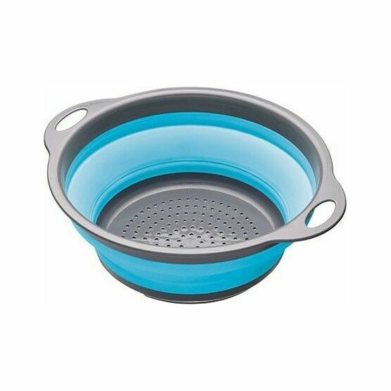 Collapsible Colander with Grey Handles - Blue