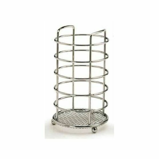 Kitchen Craft Chrome Plated Upright Round Utensil Holder