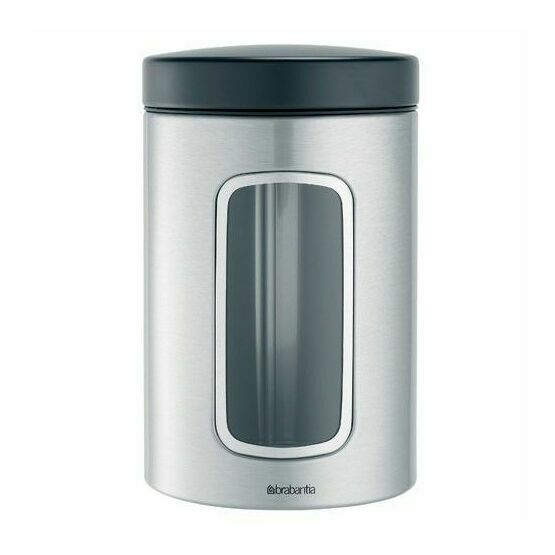 Brabantia Window Canisters Matt Steel