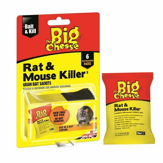 STV Big Cheese Rat & Mouse Killer Grain Sachets 6x25g STV244