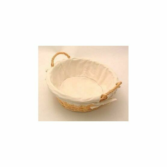 Round Lined Bread Basket