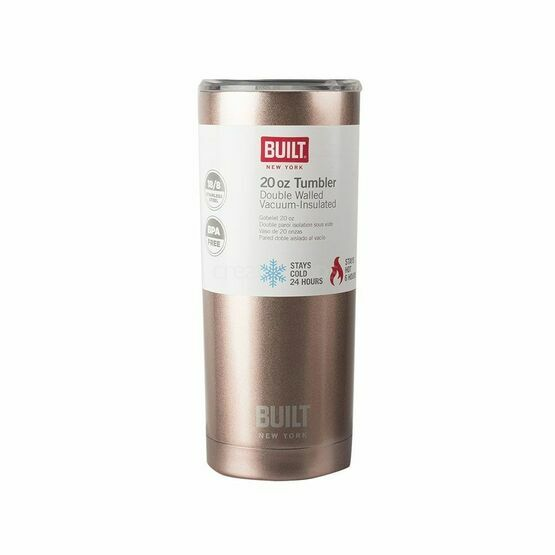 Built 20Oz Double Walled Stainless Steel Water Bottle Rose Gold
