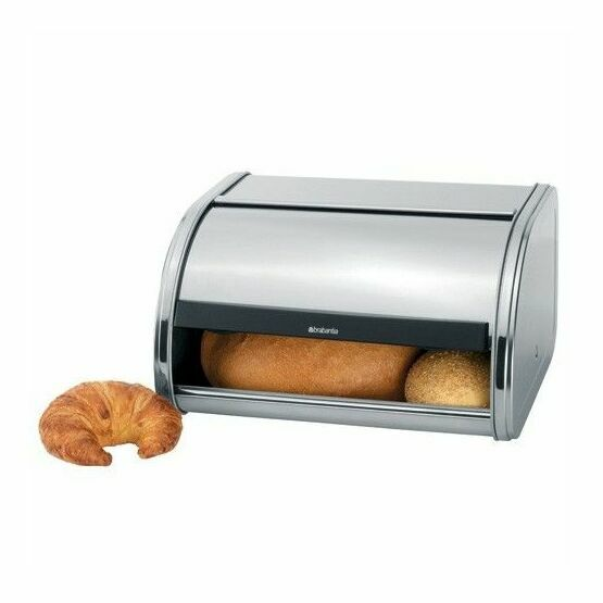 Brabantia Medium Roll Top Bread Bin Matt Steel