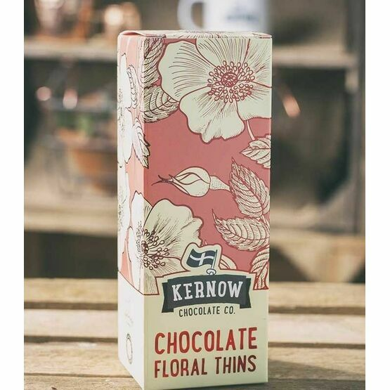 Kernow Chocolate Floral Thins 155g Milk, White and Dark