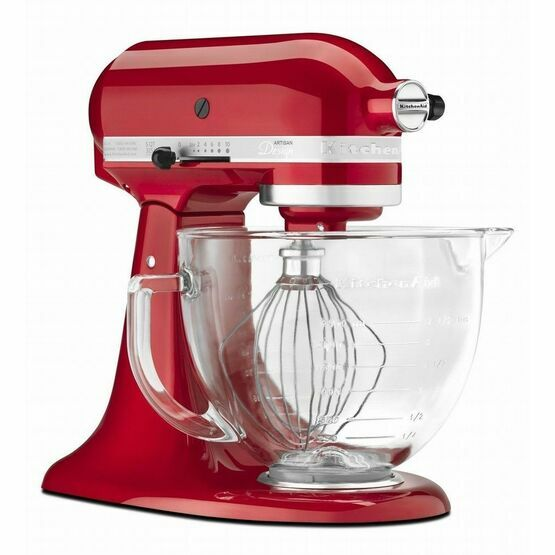 KitchenAid Artisan Stand Mixer Candy Apple Glass Bowl KSM156BCA