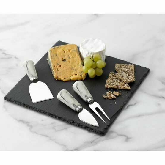 Cheese Board Set 3piece Square Slate