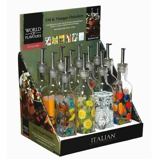World of Flavours Italian Oil and Vinegar Drizzler